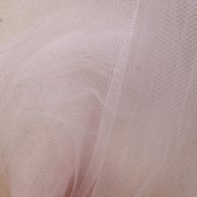 Extra Wide Soft Bridal Tulle Veiling in Pale Pink x 0.5m